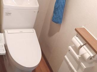 トイレリフォーム 収納ごと取り変えて、すっきりキレイになったトイレ